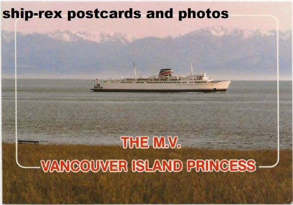 VANCOUVER ISLAND PRINCESS (BC Ferries) postcard